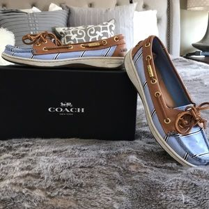 Coach boat shoes 6.5